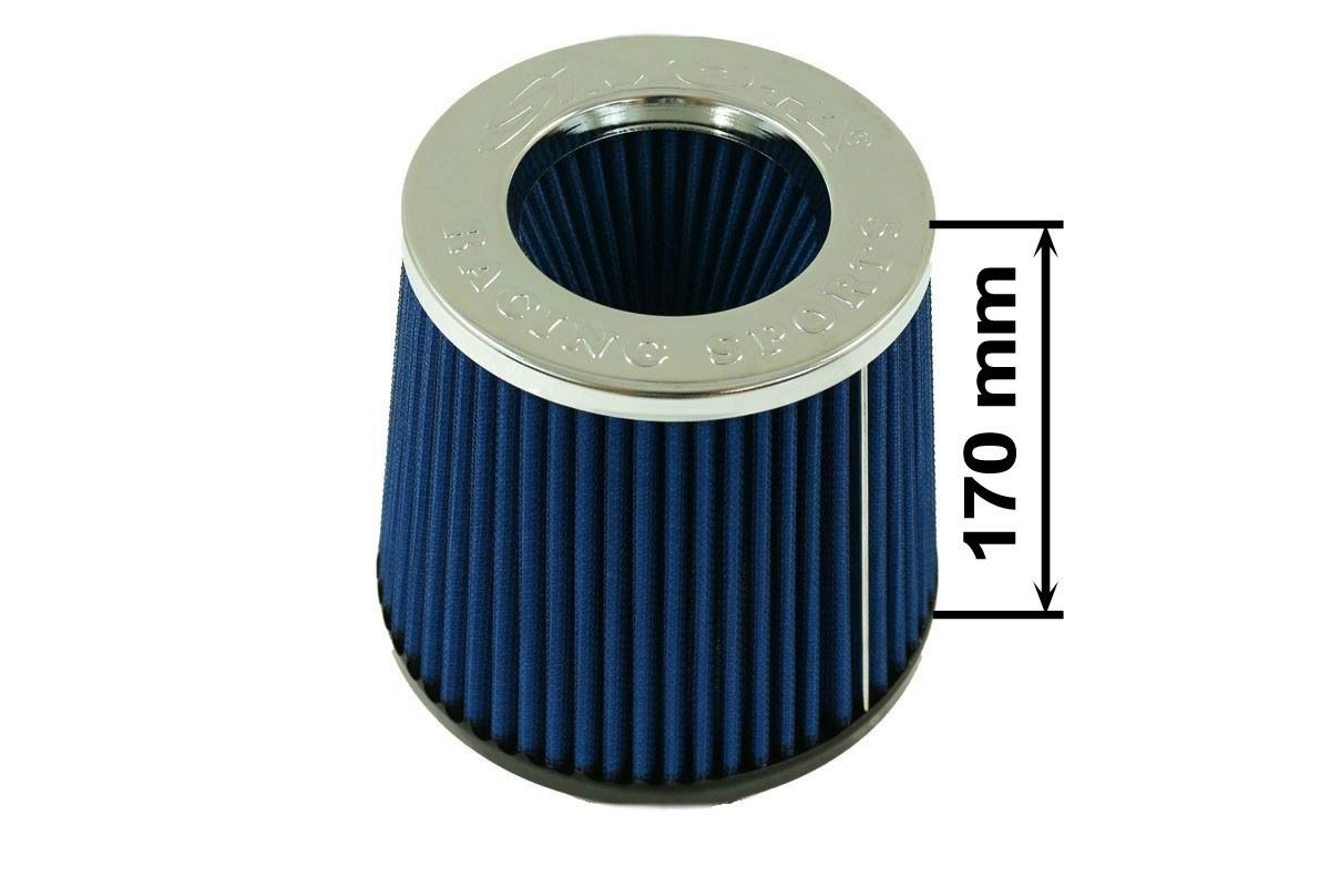 Filtr stożkowy SIMOTA JAU-G02202-05 80-89mm Blue - GRUBYGARAGE - Sklep Tuningowy